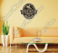 "Wild West Rodeo Mustang Broncos Wall Sticker Room Interior Decor 20""X25"""