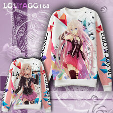 Loli Anime VOCALOID IA Cosplay Hoodie Sweatshirt Coat Jacket Sportswear Winter