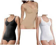 WOMENS SEAMLESS TUMMY CONTROL VEST BODY SHAPER SLIMMING SUPPORT WEAR TOP S-XXXL