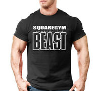 Mens Gym Beast Muscle Training Bodybuilding Cotton Fitness Workout T-shirt Tee