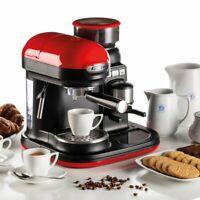 Ariete 1318R Moderna Espresso Machine, Barista Style Coffee Maker - Red