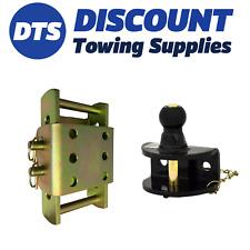 Towbar Trailer 3.5 Ton Adjustable Height Coupling Drop Plate 1.5 Ton Ball & Pin