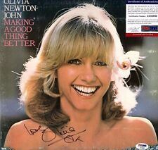 "OLIVIA NEWTON-JOHN Signed LP VINYL ""MAKING A GOOD THING BETTER PSA/DNA # AC34680"