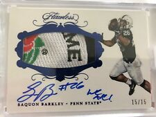 2018 Flawless Football Saquon Barkley Auto Inscribed Rose Bowl Patch rc #d /15