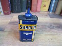 SUNCO HOUSEHOLD OIL  ALL PURPOSE MACHINE CAN HANDY 4 OZ TIN ORIGINAL GUN REEL