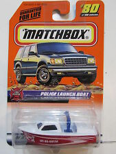 Matchbox 1999 Fire Rescue Police Launch Boat NIB Mattel NIP #80 of 100 Vehicles