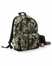 BAGBASE CAMO BACKPACK MILITARY ARMY PRINT PADDED BACK UNI SCHOOL TRAVEL RUCKSACK