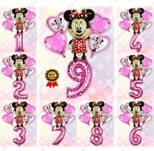 Mickey Minnie Balloons HAPPY BIRTHDAY Theme party Ballons Digit 0-9 foil Baloon