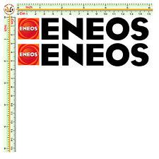 sticker sponsor eneos decal adesivi moto size cm.15 pretagliati pvc nero 2 pz.