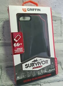 Griffin Survivor Journey Case for iPhone 6/6S - Deep Grey/Fluoro Pink, Strong