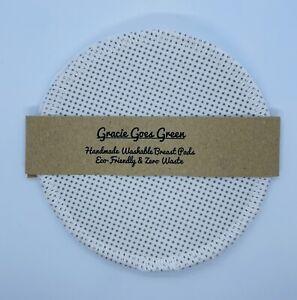 Handmade Washable Reusable Fabric Nursing Breast Pads Eco Friendly Zero Waste