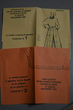 """"""" MODES & TRAVAUX """" PATRON NOV 1985 + PATRON POUPEE J.MICHEL MARIE FRANCOISE A10"""