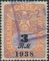Stamp Germany Poland Revenue WWII Court Document Fee 1938 3 RM Used