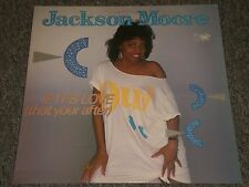 Jackson Moore~If It's Love (That You're After)~UK IMPORT~1984 Hi-NRG~FAST SHIP!
