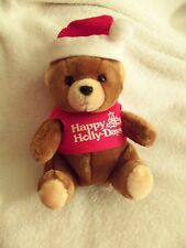 Vintage Pot Belly 1985 Logo Bear, Christmas Happy Holly-Days, EXCELLENT