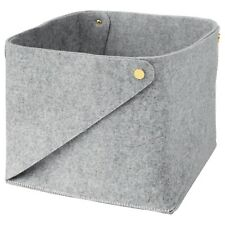 2 x IKEA Pudda Large Grey 28 x 28 x 23 cm Storage Box - PROMOTIONAL PRICE