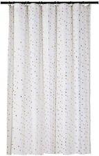Room Essentials Diamond Shower Curtain - METALLIC Gold -  WHITE FABRIC NEW