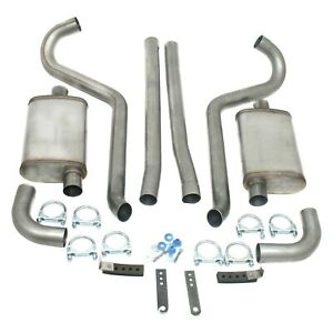 For Ford Mustang 65-70 Exhaust System Stainless Steel Mid Pipe-Back Exhaust