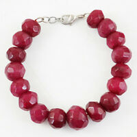 """Details about  /Pear Shape 141.00 Cts Earth Mined 7/"""" Long Ruby Carved Beads Bracelet NK 21E221"""