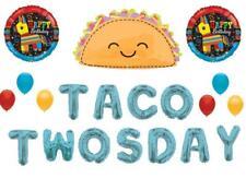 Taco TwosDay 2nd Birthday Party Balloons Decoration Supplies Fiesta Pinata