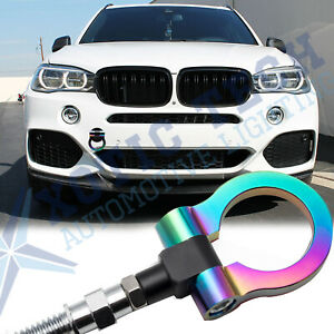 For BMW 1 3 5 6 X5 X6, MINI Cooper NEO Track Racing Style Chrome BUMPER Tow Bar