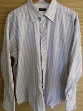 Men's Ted Baker London Long Sleeve Striped Button Up Dress Shirt Size 17 1/2