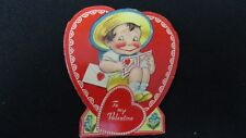 Vintage Dapper Victorian Boy Valentine Card c. Early 1920s Germany