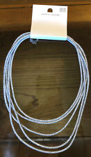 Sparkle Necklace Jewellery Rrp £12.50 Dorothy Perkins Silver Fabric Long