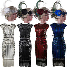 1920s Dress Flapper Costumes Vintage Evening Gown For Womens Clothing Plus Size