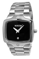 Nixon A140000 Player Black Dial Diamond  Steel Men Watch
