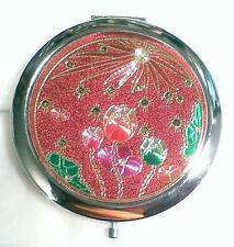 Pink Tulip  Make-up Mirror Compact 70 mm Chrome New Free Delivery