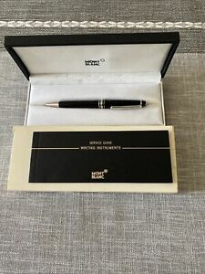 MONTBLANC MEISTERSTUCK CLASSIC PIX BLACK AND Silver BALL POINT PEN