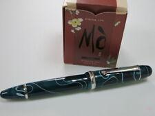 PENLUX MASTERPIECE GRANDE FOUNTAIN PEN, PISTON FILLED. BLUE SWIRL