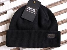 bea5a146ed4 Barbour International Black Wool Watchcap Beanie Hat Toque Made in Scotland  Ba26