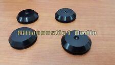 4 Aluminum Speaker Stand Feet Spike Pad Base AMP CD Isolation HIFI 33mm