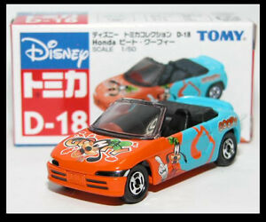 TOMICA DISNEY D-18 GOOFY HONDA BEAT 1/50 TOMY DIECAST CAR New 72 B