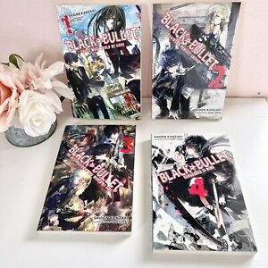 Black Bullet Set Vol 1 2 3 4 Light Novel / Anime Manga Lot Htf Rare