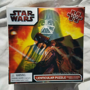 """Star Wars Lenticular Puzzle Darth Vader 100 Pieces 12"""" x 9""""  New Sealed Box"""
