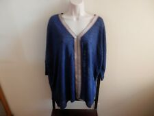 "NWT Nurture Orig $69 Very Cute, Denim Color/w embroidery Down V-Neck  ""XL"""
