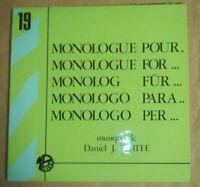 """12"""" Monologue Pour...- Daniel J. White Editions Montparnasse 2000  MP. 19  Jazz"""