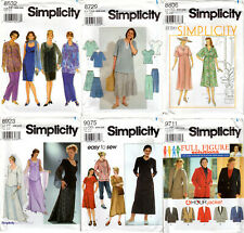 CHOICE: UNCUT Simplicity Women's Sewing Patterns in sizes 16W-32W
