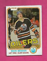 1981-82 OPC # 118 OILERS MARK MESSIER 2ND YEAR EX+ CARD (INV# D2039)