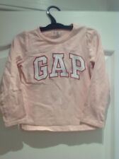 GIRLS GENUINE GAP PINK LONG-SLEEVED COTTON T-SHIRT/TOP AGE 4 YEARS