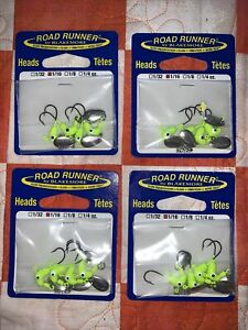 Blakemore Road Runner Original Jig Head Spinner 1/16oz 152-012 Chart 4 Packs