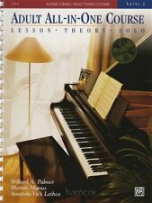 Adult All-In-One Course Level 2 Book/CD Alfred's Basic Piano Lesson Theory Tech