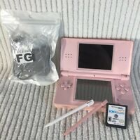 Nintendo DS Lite Pink (USG-001) Handheld Console- Charger-2 Stylus- 1 Game Deal