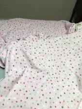 Pottery Barn Kids Bedding Full/Queen Reversible Duvet Cover Pink Brown Polka Dot
