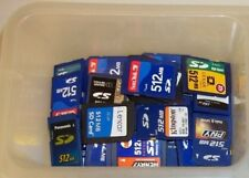 Lot of (10) 512MB SD memory cards mixed brand