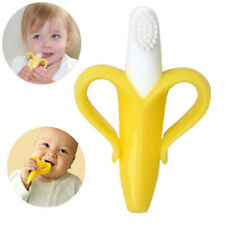 Banana Baby Infant Silicone Training Toothbrush Teether Bendable Soother Gum Toy