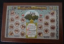 TWO BEAUTIFUL VINTAGE CONCERTINA POSTCARD BOOKS OF VIENNA & WARTBURG
